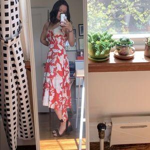 Derek Lam red midi dress